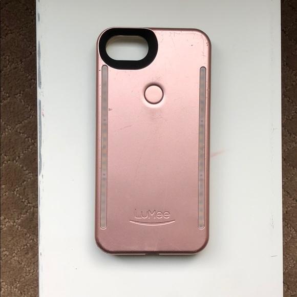 premium selection 2f31b 5c5a9 LuMee Duo Light Rose Gold iPhone 8 case
